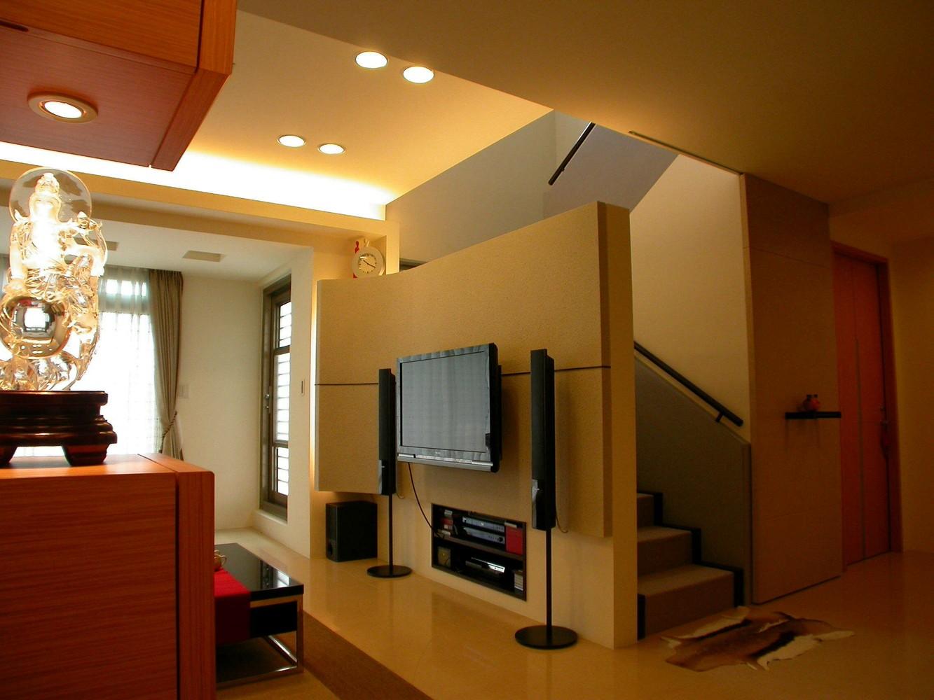 现代风格客厅局部装潢设计图