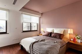 紫色温馨简约风格卧室设计装潢