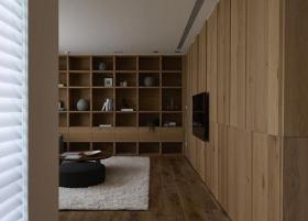 米色淡雅现代风格收纳柜设计