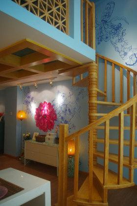 田园风格楼梯装饰设计图片