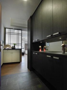 黑色典雅简约风格收纳柜设计效果图