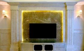 浪漫欧式雅致电视背景墙设计图片