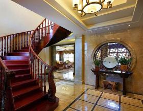 中式大气奢华雅致楼梯设计欣赏