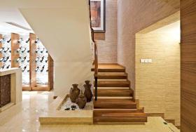 质感东南亚风格楼梯装修布置