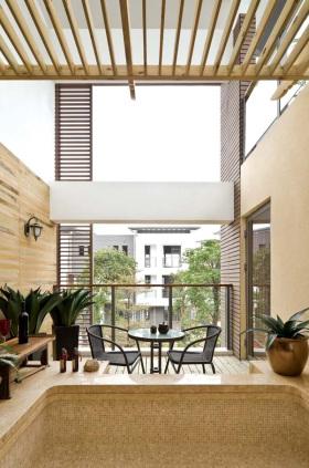 时尚现代风格阳台设计图片