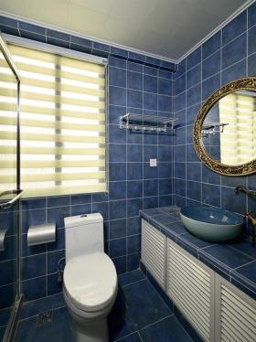 清新地中海风格卫生间装饰图欣赏
