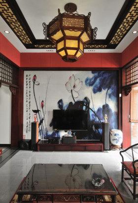 雅致古韵中式风格背景墙效果图赏析