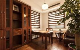 热带清新东南亚风格书房效果图设计