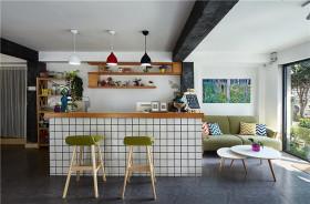 彩色温馨宜家风格吧台装修设计