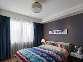 浪漫紫色田园风卧室装修效果图