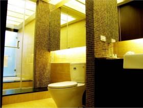 现代风格创意马赛克墙面卫生间装修图