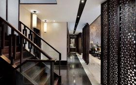 黑色中式楼梯设计装潢