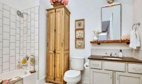 宜家风格白色清新卫生间装修布置