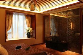 2016橙色东南亚风格卧室飘窗赏析