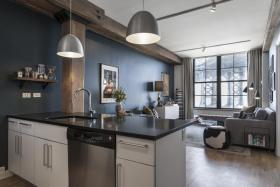 质感黑色现代风格吧台装修设计