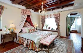 褐色东南亚风格卧室设计赏析