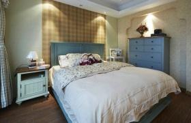 黄色田园风格卧室装修设计图