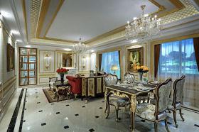 精致浪漫个性欧式风格餐厅设计装潢