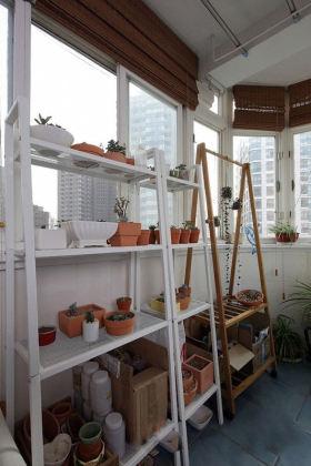 米色现代风格阳台装潢设计