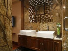 东南亚风情创意卫生间装修图