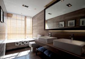 日式风格原木色清新卫生间装修图片