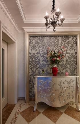 欧式精美优雅米色玄关设计图片