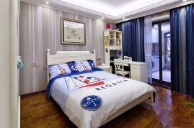 地中海风格浪漫蓝色儿童房装修欣赏