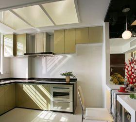 现代风格黄色温馨厨房橱柜装修赏析