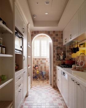 雅致米色田园风格厨房橱柜装修案例