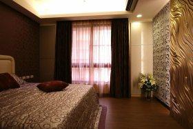 现代温馨浪漫卧室窗帘效果图