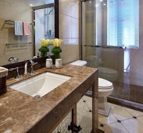 地中海风格质感米色卫生间装修美图