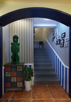 地中海蓝色楼梯装饰设计图片