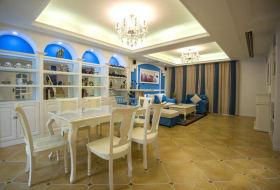2016地中海蓝色餐厅吊顶美图