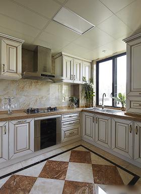 米色简欧风格厨房装修布置