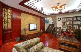 中式风格客厅背景墙图片欣赏