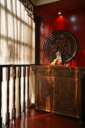 中式雅致收纳展示柜设计图片