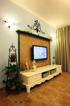 田园风格温馨黄色背景墙设计图片