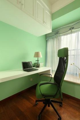 绿色创意清新现代风格书房装修设计