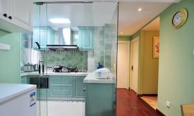 简欧风格清新绿色厨房美图欣赏