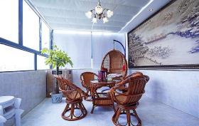 优雅中式风格阳台装饰案例