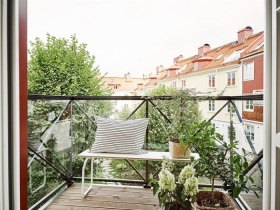 绿色清新现代风格阳台装修