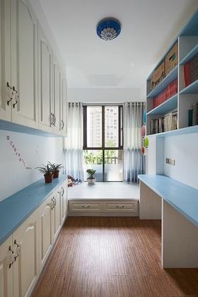 蓝色温馨简欧风书房装修设计