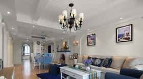 地中海风格温馨米色客厅装修美图