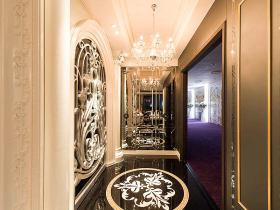 欧式风格质感黑色玄关装修布置