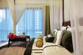 2016东南亚风格卧室窗帘设计欣赏