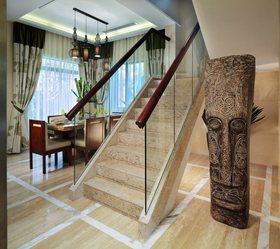 东南亚风格素雅米色楼梯装修效果图