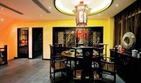 黑色中式餐厅效果图赏析