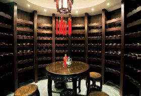 奢华中式黑色酒柜装饰案例