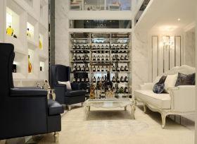 新古典风格米色酒柜设计装潢