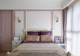 紫色浪漫美式卧室装潢案例